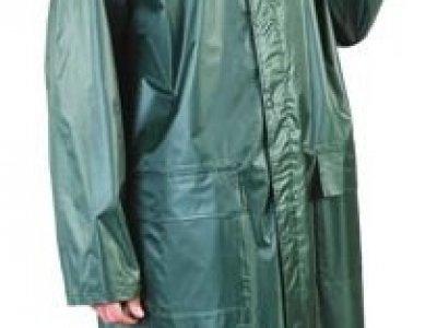 Płaszcz przeciwdeszczowy z kapturem.
