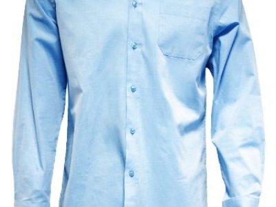 Koszula męska z długim rękawem niebieska