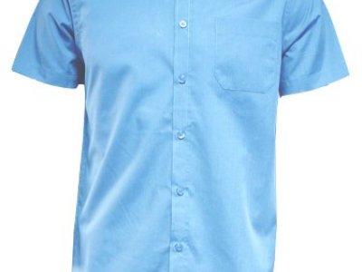 Koszula męska z krótkim rękawem niebieska
