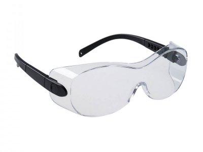 PS30 - Okulary ochronne do założenia na okulary korekcyjne Przezroczysty
