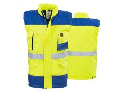 Kamizelka ostrzegawcza PROMAN żółta - ocieplacz roboczy