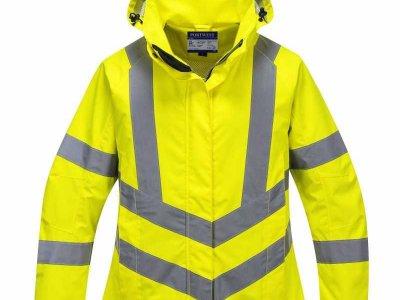 Damska kurtka ochronna ostrzegawcza i paroprzepuszczalna żółta LW70