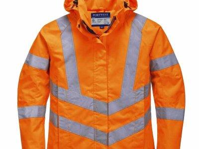 Damska kurtka ochronna ostrzegawcza i paroprzepuszczalna pomarańczowa LW70