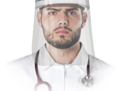 Przyłbica ochronna Osłona twarzy składająca się z szybki oraz taśmy opasującej głowę OTT