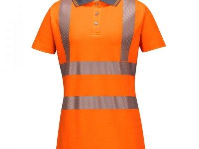 Damska koszulka ochronna ostrzegawcza polo Pomarańczowy LW72