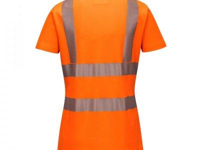 Damska koszulka ochronna ostrzegawcza polo Pomarańczowy LW72 1