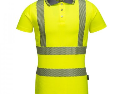 Damska koszulka ochronna ostrzegawcza polo Żółty LW72