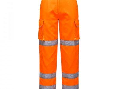 Spodnie ostrzegawcze ochronne damskie Pomarańczowy LW71