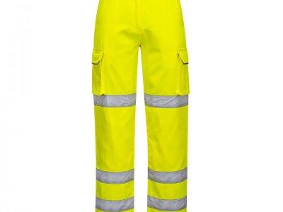 Spodnie ochronne ostrzegawcze damskie Żółty LW71