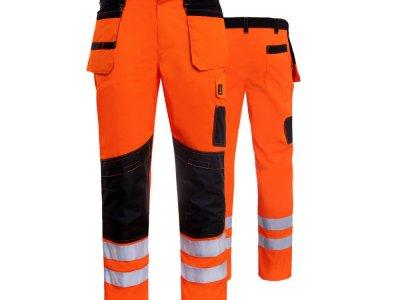 Spodnie do pasa ochronne ostrzegawcze pomarańczowe PROMONTER HV 260 SP HVP