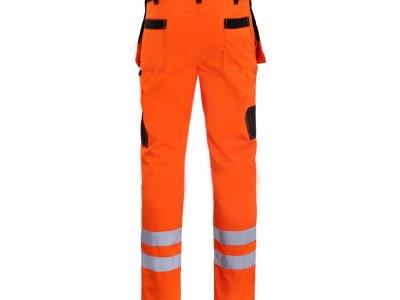 Spodnie do pasa ochronne ostrzegawcze pomarańczowe PROMONTER HV 260 SP HVP 1