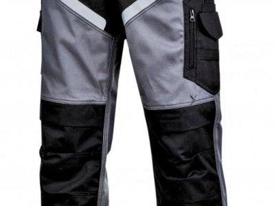 Spodnie ochronne do pasa czarno szare Lahti Pro L40516