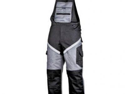 Spodnie ochronne ogrodniczki czarno szare L40613