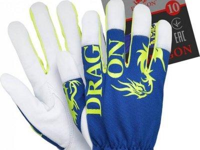 Robocze rękawice RLDRAGON NWY- wzmacniane kozią skórą licową