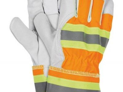 Rękawice ochronne pomarańczowo-żółto-szaro-biały RLVIS PYSW