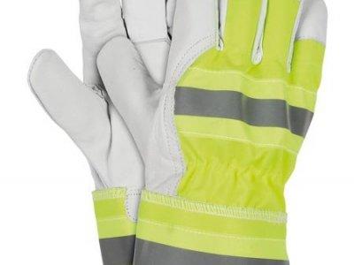 Rękawice ochronne żółto-szaro-biały RLVIS YSW