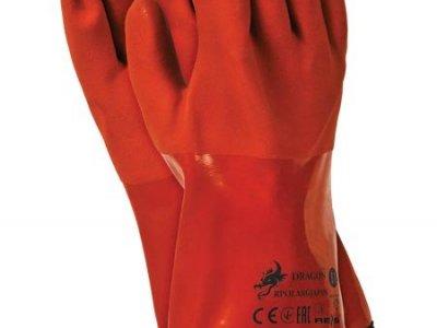 Rękawice ochronne termoodporne wykonane z PCV RPOLARGJAPAN P 11