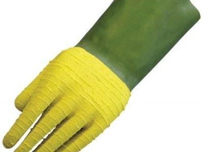Rękawice ochronne wykonane z mieszanki na bazie lateksu kauczuku LUDWIK