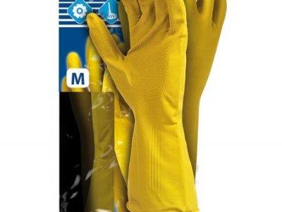 Rękawice ochronne gumowe flokowane RF