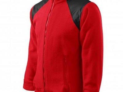 BLUZA Z POLARU, LUKSUSOWY POLAR ADLER HI-Q 360 JACKET HI-Q 506 kolor czerwony (07)