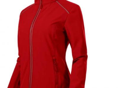 Softshell kurtka damska VALLEY 537 kolor czerwony (07)