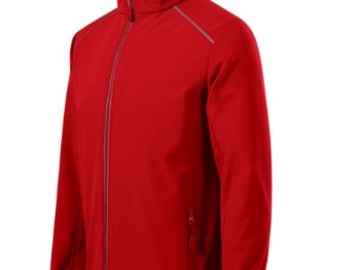 Softshell kurtka męska VALLEY536 kolor czerwony (07)