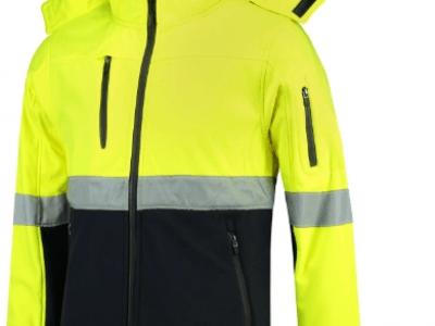 Softshell kurtka unisex BI-COLOR EN ISO 20471 SOFTSHELLT52 kolor fluorescencyjny żółty (97)