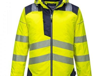Kurtka ostrzegawcza zimowa PW3 Żółty/Granatowy T400