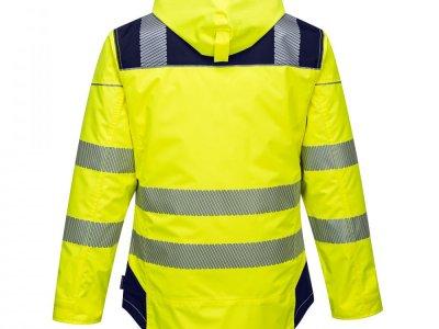Kurtka ostrzegawcza zimowa PW3 Żółty/Granatowy T400 1