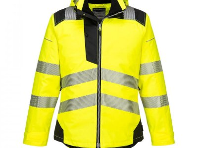 Kurtka ostrzegawcza zimowa PW3 Żółty/Czarny T400