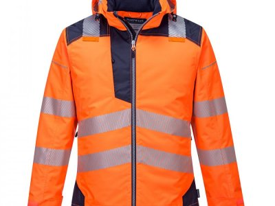Kurtka ostrzegawcza zimowa PW3 Pomarańcz/Granat T400