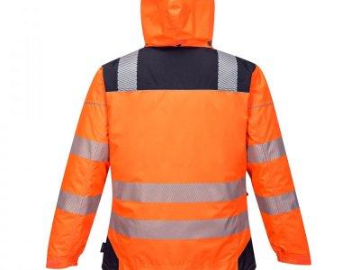 Kurtka ostrzegawcza zimowa PW3 Pomarańcz/Granat T400 2