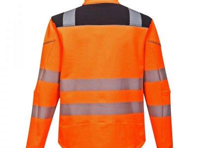 Softshell ostrzegawczy PW3 Pomarańcz/Czarny T402 2
