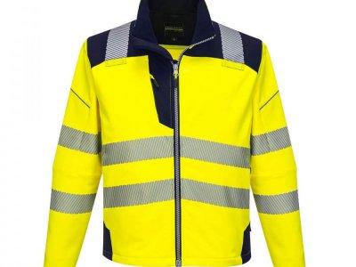 Softshell ostrzegawczy PW3 Żółty/Granatowy T402