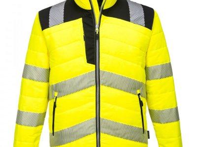 Kurtka ostrzegawcza PW3 Baffle Żółty/Czarny PW371