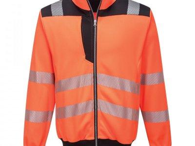 Sweter ostrzegawczy PW3 Pomarańcz/Czarny PW370