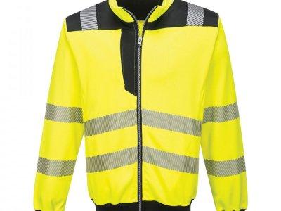 Sweter ostrzegawczy PW3 Żółty/Czarny PW370