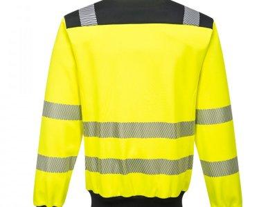 Sweter ostrzegawczy PW3 Żółty/Czarny PW370 2