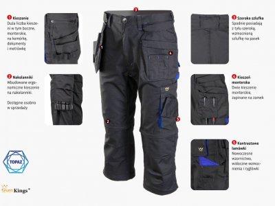Spodnie TOPAZ 3/4 odpinane nogawki